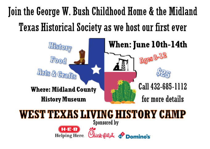 The George W. Bush Childhood Home and the Midland Texas Historical Society are partnering with You ASKED for it Character Programs and Weddings to bring you ...